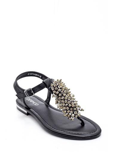 Derimod Kadın Boncuk Detaylı Sandalet Siyah